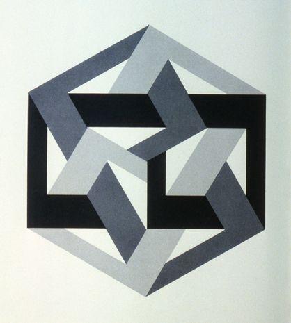 cette forme g om trique rappelle une toile six branches et une lettre h bra que renvers e. Black Bedroom Furniture Sets. Home Design Ideas