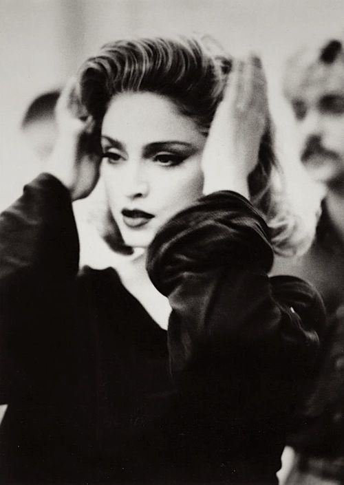 Never before seen on set picture of Material Girl '85