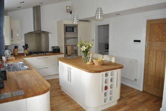 Altholz Küche in modernem Bauernhaus Landhaus Küchen Pinterest - kche mit kochinsel landhaus