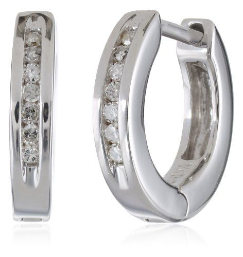 Sterling Silver Channel-Set Diamond Hoop Earrings (1/10 cttw, I Color, I2-I3 Clarity) Amazon Curated Collection,http://www.amazon.com/dp/B001HK22RQ/ref=cm_sw_r_pi_dp_JDyDsb0Y9NTNP3VF