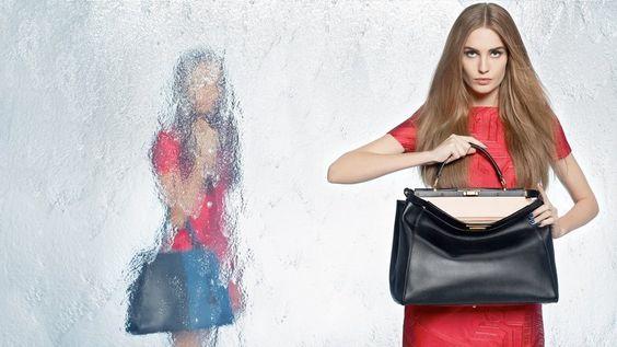 fendi spring 2014 campaign5 Nadja Bender + Joan Smalls Star in Fendi Spring 2014 Ads