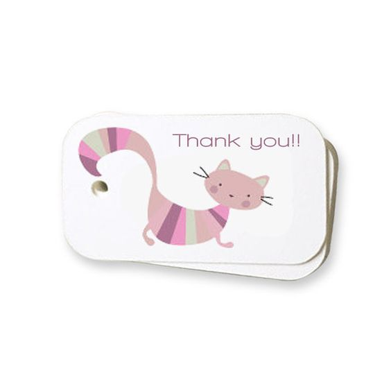 Baby Shower Printable Label Tag - Thank you    -  Custom Color, size and text included #etsy  #gifts
