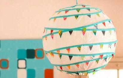 3 DIY para tunear las lámparas de papel: