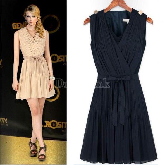 2014 New v-neck dress