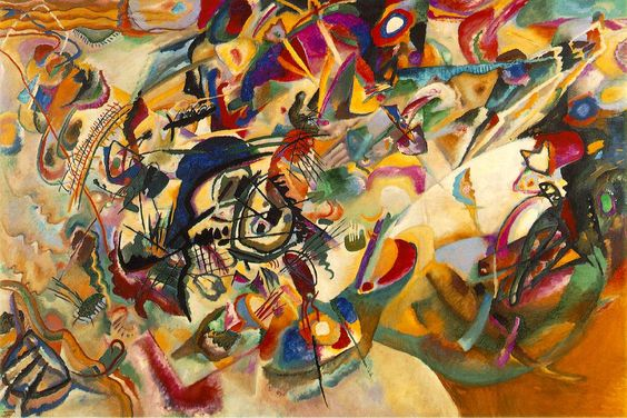 Kandinski who likened colour to music, from Sunnyside Art House: Painting to Music: