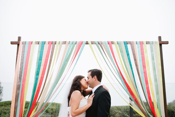 Colorful Ceremony Arch