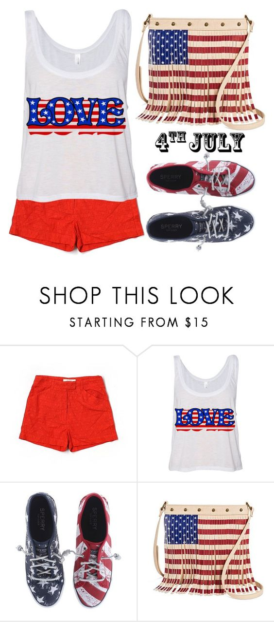 """""""Red white and blue"""" by simona-altobelli ❤ liked on Polyvore featuring Sessùn, Sperry, TWIG & ARROW, redwhiteandblue, july4th and polyvorecontest"""