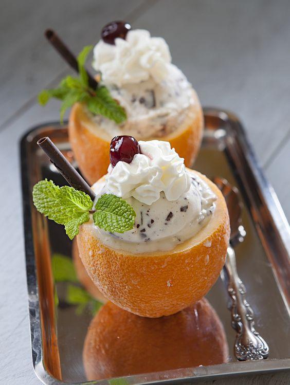 Frozen Orange Bowl Gelato Sundae | Nugget Market Recipes