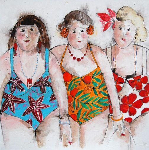 Cécile Colombo, Josette, Lorette, Suzette à la plage