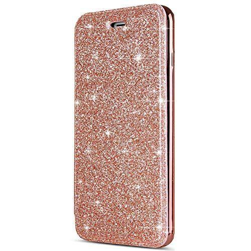 Coque Iphone 8coque Iphone 7surakey Paillette Strass Brillante Glitter De Luxe Etui Housse Coque Clapet Portefeu Housse Iphone 6 Portefeuille Cuir Coque Iphone