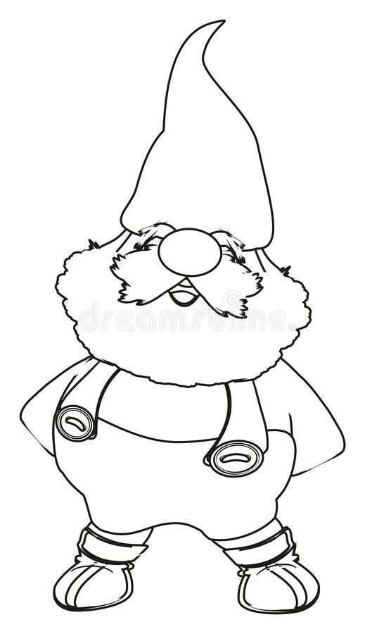 Coloring Happy Gnome Royalty Free Illustration Gnome Patterns Gnomes Crafts Christmas Coloring Pages