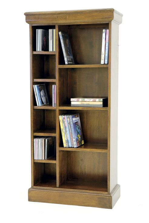 Bibliotheque Ouverte Hevea 10 Niches 4 Grandes 6 Petites 52x25x109 9cm Tradition Ranong Shelves Dvd