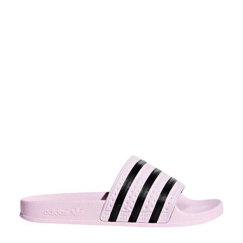 Adilette badslippers geel - Zwarte rozen, Adidas originals ...