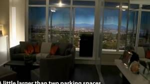 Video: Could you live in a condo the size of two parking spaces?