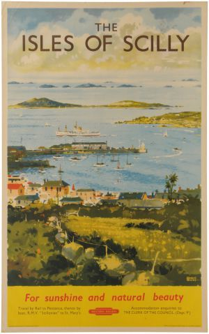 I want to find this for my flat!!! Quad Royal | Scilly Isles via British Railways Vintage poster 1950s