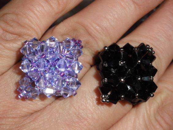Swarovski beads rings