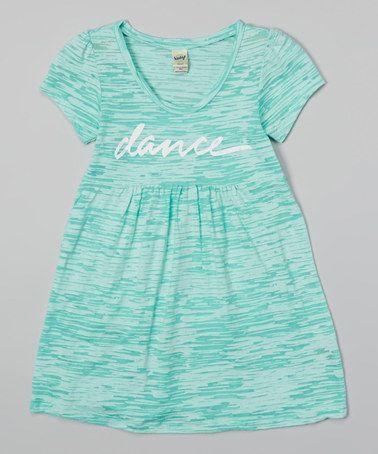 Mint Sorbet Variegated 'Dance' Dress - Toddler & Girls by Dancewearables #zulily #zulilyfinds