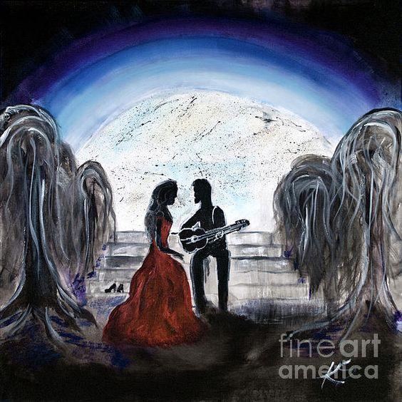 Title  The Serenade   Artist  Katy Scott  Medium  Painting - Acrylic On Canvas