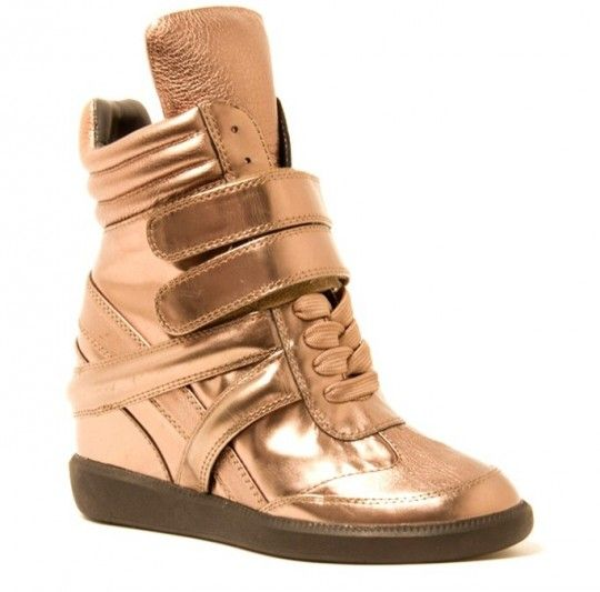 """Monika Chiang """"Gold Artemys Wedge Sneaker""""...found this under """"Men's Fashion"""". Gold Wedge Sneakers for MEN? SMH."""