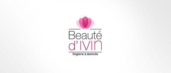Graphiste freelance Nantes-LSZ Communication-Logo Beauté d'Ivin - Prothésiste ongulaire à domicile - Quimper