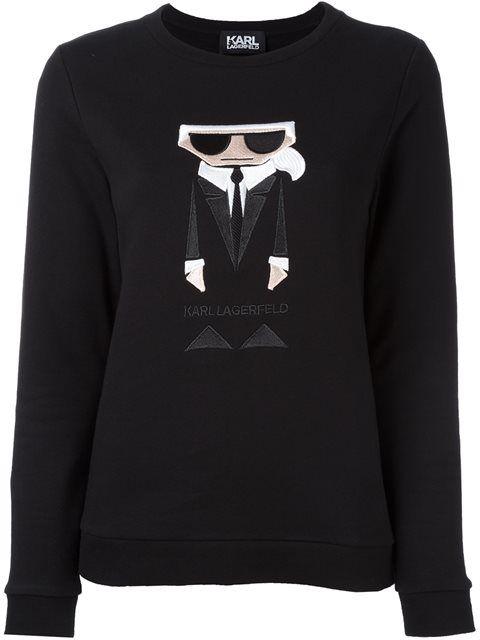 KARL LAGERFELD Embroidered Karl Sweatshirt. #karllagerfeld #cloth #sweatshirt