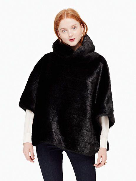 faux mink cape   Kate Spade New York