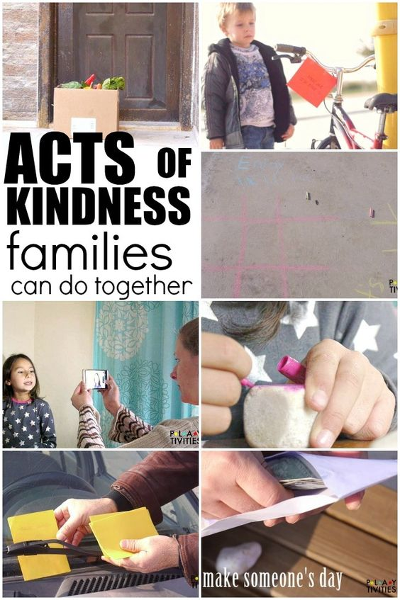 Random Acts Of Kindness for Family To Do -
