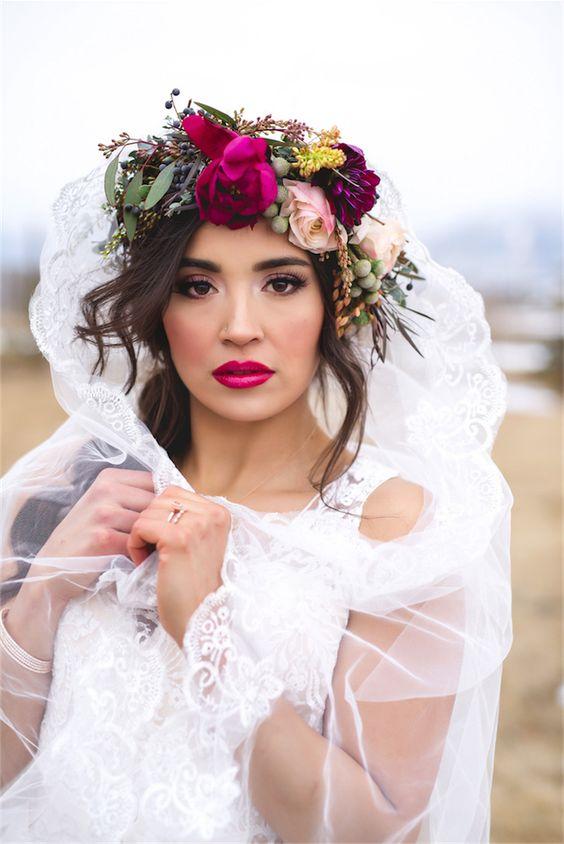 Lips, eyes, floral crown...sigh.: