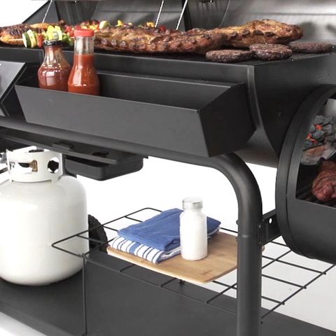 Char Griller Duo Black Dual Function Combo Grill At Lowes Com