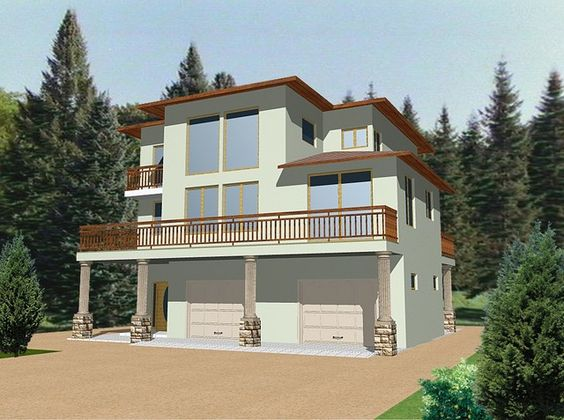 Incredible Hillside And View Lot Modern Home Plans About Modern Style House Inspirational Interior Design Netriciaus