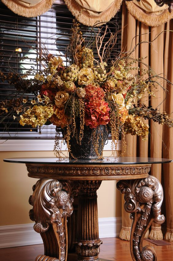 Custom silk flower arrangements