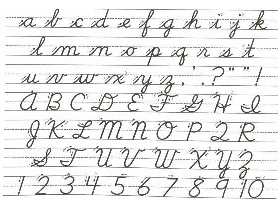 Printables Cursive A B C D Alphabet learning cursive yesterday pinterest and cursive