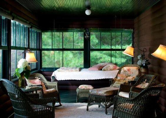 the sleeping porch swing
