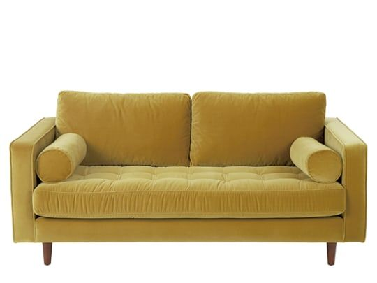 Scott 3 Sitzer Sofa Samt In Grasgrun Kleines Sofa Sofa Und 2