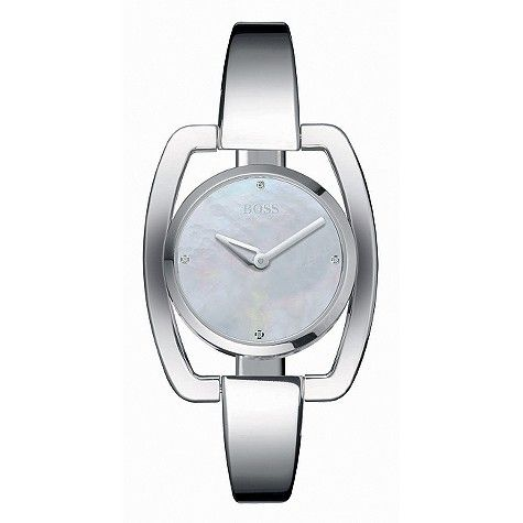 BOSS ladies' stainless steel bangle watch
