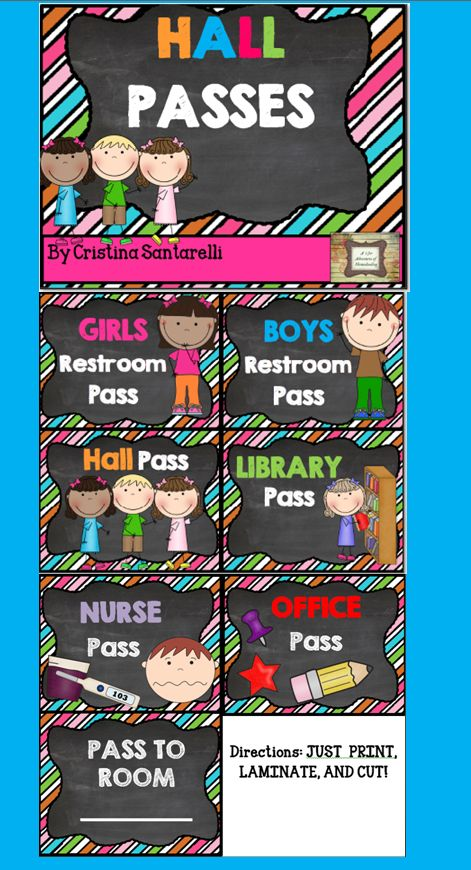 "FREE Hall Passes!! ..... Follow for FREE ""too-neat-not-to-keep"" teaching tools & other fun stuff :)"