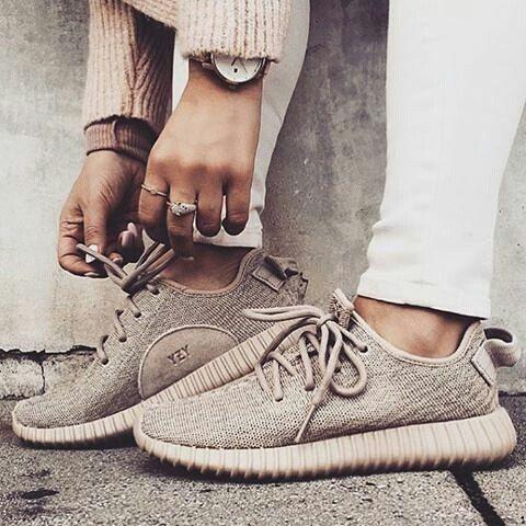 BEIGE ADIDAS YEEZY BOST 350 | Nike shoes women, Adidas shoes ...