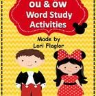 Your class will love this Mickey inspired ou and ow Word Work Activity! You can use it as part of your guided reading, spelling, word work, or as a...
