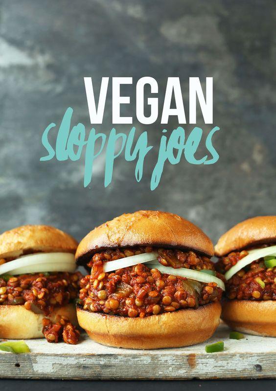 Vegan sloppy joes, Vegans and Lentils on Pinterest