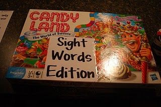 sight word candyland