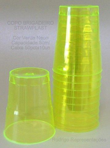 copo brigadeiro #strawplast verde neon