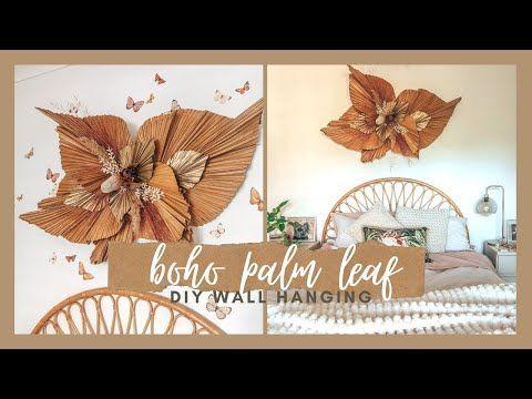 Boho Palm Leaf Wall Hanging Youtube Paper Wall Decor Boho Wall Decor Wall Hanging