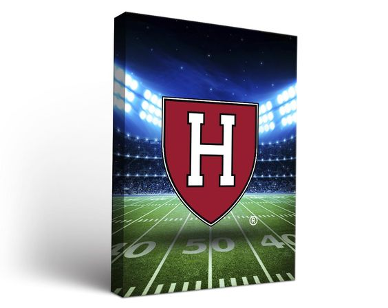 Harvard Crimson Football Stadium Canvas Art Rectangle