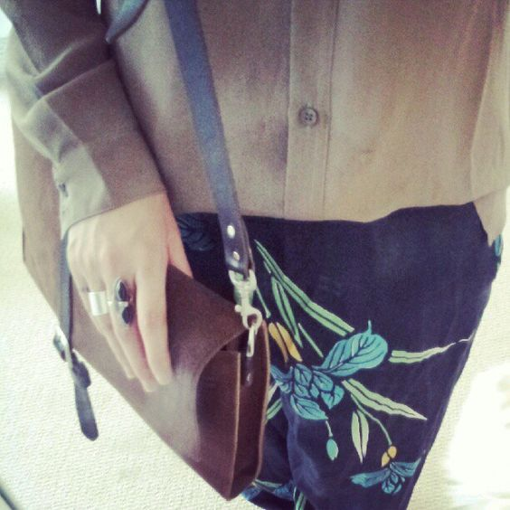 @styleacme giving us a peek at her look today featuring her @clubmonaco silk top. #CMYouBoughtIt