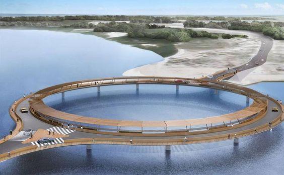 Un puente circular será la novedad del verano en Uruguay