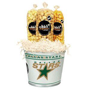 Dallas Stars Tin Popcorn Pail