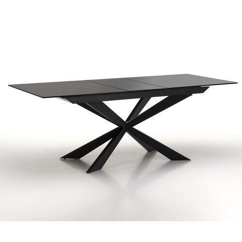 Nero Extendable Dinning Table Orren Ellis Colour Black Dinning