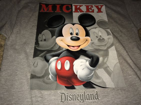 Sale Vintage MICKEY MOUSE Disneyland Resort Gray T by casualisme