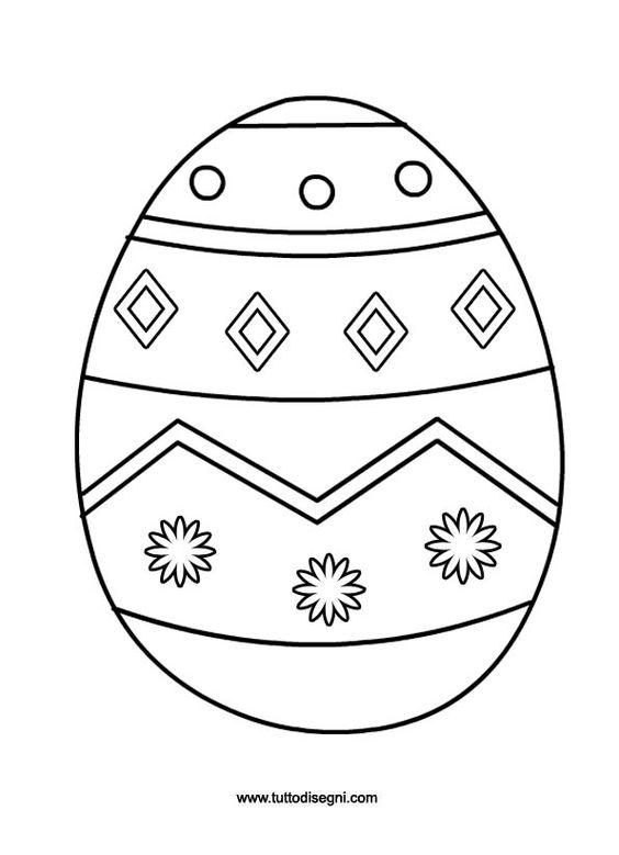 Uovo di pasqua da colorare e ritagliare - Uovo modello da stampare ...