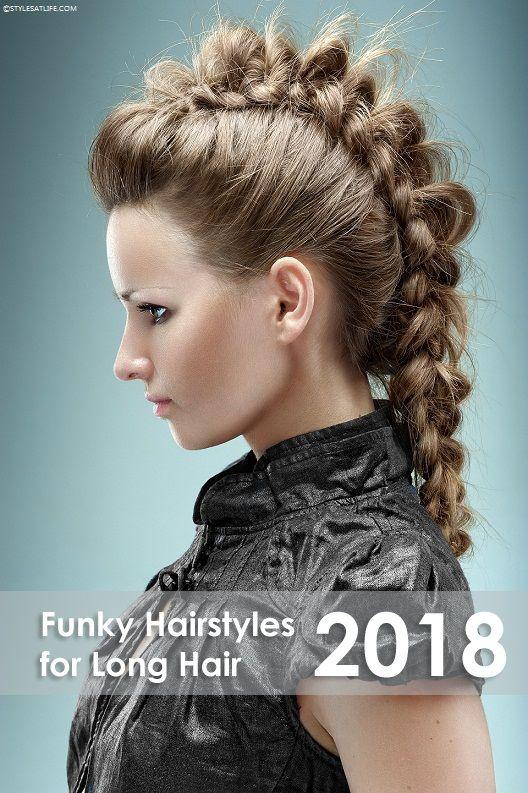 10 Trendy Funky Hairstyles For Long Hair Styles At Life Funky Hairstyles Funky Hairstyles For Long Hair Cool Braid Hairstyles